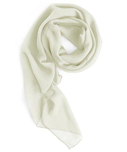 Homrain Damen Chiffon Stola Schal für Hochzeitskleider Abendkleider Alltagskleidung Ivory L
