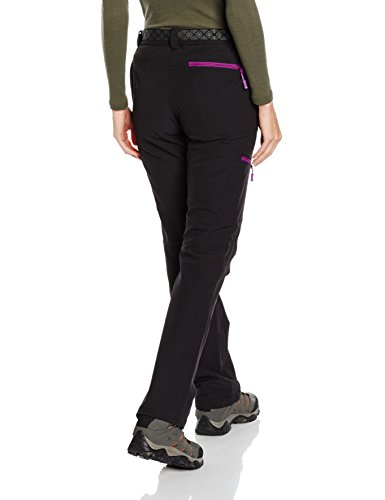 izas Wengen Hose Berg-Damen L Black/Purple
