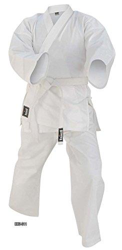 NEU * Martial Arts Weiß 8Oz Gewicht Karate Gi Uniform 000-7Größe, Herren, weiß, 0/130 -