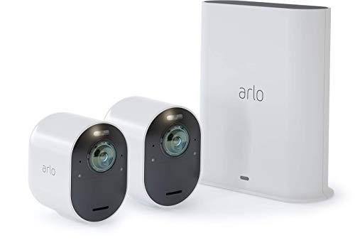 Arlo Ultra Vms5240 Sistema di Videosorveglianza Wifi con 2 Telecamere di Sicurezza...