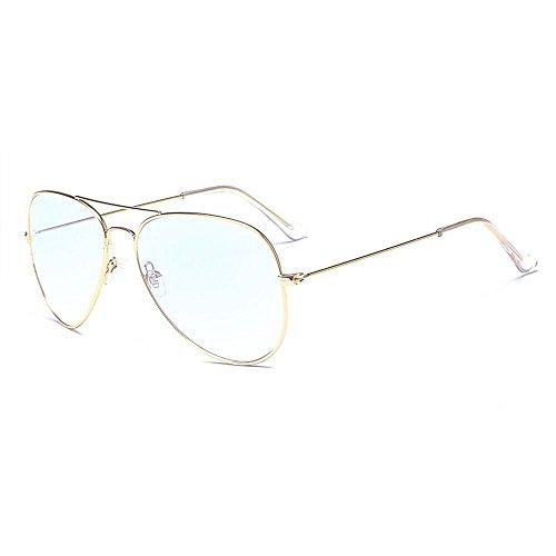 fake brille ALWAYSUV klassische Brille Metallgestell Brillenfassung Aviator Vintage Brille Dekobrillen