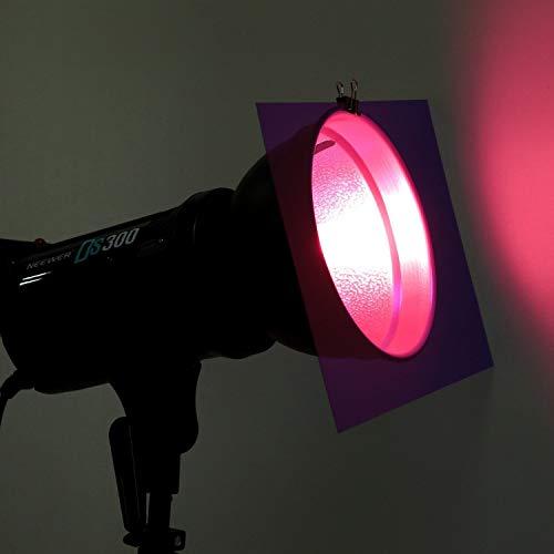 Neewer 12 Pack 8,5x11 Zoll / 21x28 Zentimeter Transparente Farbkorrektur Beleuchtung Gel Filter Set für Foto Studio Strobe Blitzlicht (Lila)