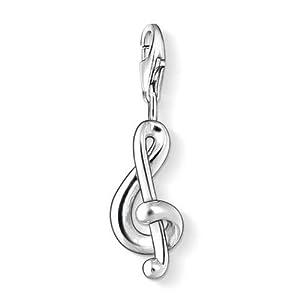 Thomas Sabo Damen-Charm Club-Anhänger Violinschlüssel 925er Sterlingsilber 0845-001-12
