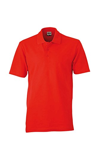 JAMES & NICHOLSON Klassisches Polohemd in Piqué-Qualität Red