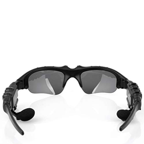 Bluetooth Headset Brille,Janly Sonnenbrille Kopfhörer Für Android und IOS (Schwarz)
