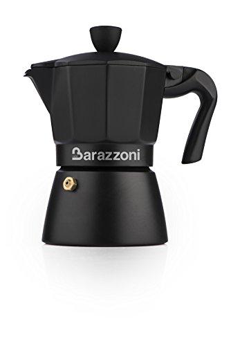 Barazzoni La Caffettiera Deluxe Nera 3 Tazze. Prodotto certificato dall\'Accademia Italiana Maestri del Caffè.