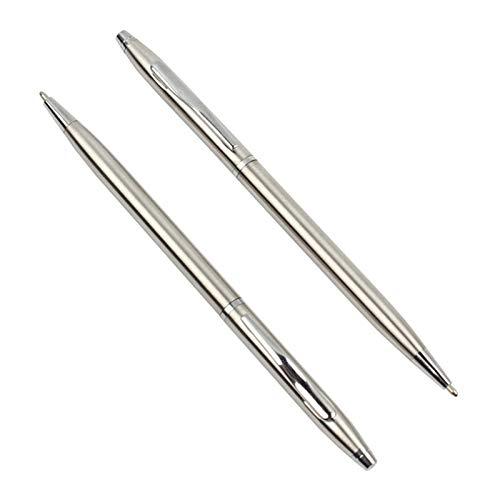 CCZUL bolígrafo-10 piezas Bolígrafo de metal 0.7mm Bolígrafo para regalo escolar Juego de papelería para estudiantes Suministros de oficina Bolígrafos, Negro