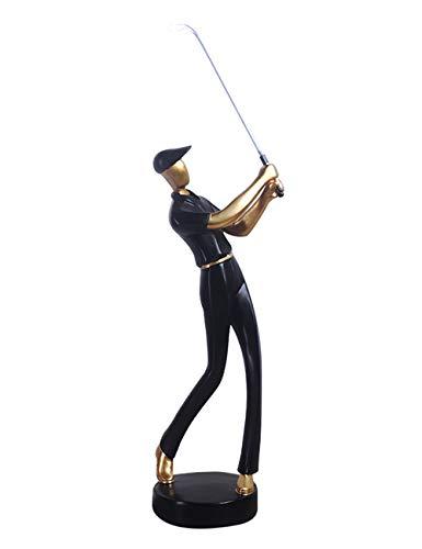 HomeBerry 24cmH Polyrésine Golfeur Figurine Golfeur Sculpture Golfer Statue Golfeur Décoration...
