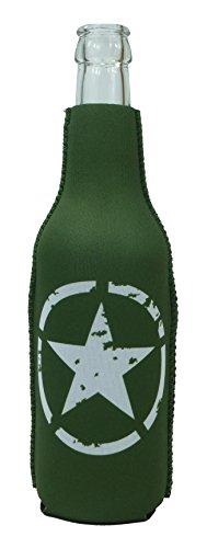 1023115 - Neopren Flaschenkühler Army Star Grün