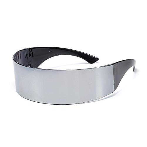 ZHOUYF Sonnenbrille Fahrerbrille Futuristisch Umgeben Kostüm Sonnenbrille Maske Neuheit Brille Halloween Party Party Supplies Dekoration, B