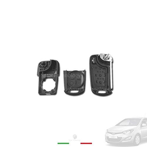 Foto de Carcasa para llave con 3 botones, mando a distancia para Hyundai I20I30, IX20IX35con hoja de llave virgen y botón «Hold»