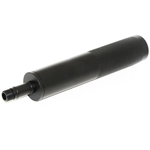 Airsoft Softair Ersatzteile Well Lange Typ Airsoft Silencer Schalldämpfer -/+14mm CW/CCW mit Adapter für R2 Vz61 Scorpion AEP SMG