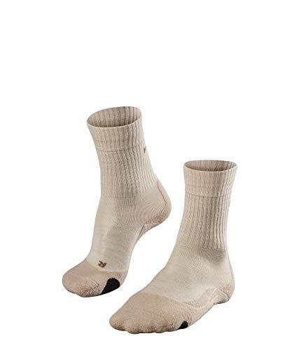 FALKE TK2 Wool Damen Trekkingsocken / Wandersocken - beige, Gr. 39-40, 1 Paar, Merinowolle, mittelstarke Polsterung, wärmende Wirkung