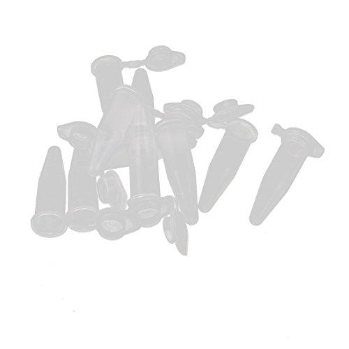 sourcingmap® 10Stk 1,5ml Plastik Klar EP Rohr Zentrifuge für Labor mit Schloss