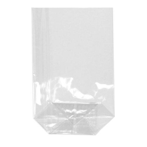 300 Stück Bodenbeutel 100x150x35mm transparent 30my // klar unbedruckt Folientüte Folienbeutel Plastiktüte PP Beutel Tüte Geschenkverpackung Cellophanbeutel Zellglasbeutel 10x15x3,5cm