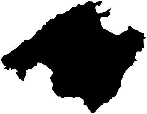 Samunshi® Mallorca Aufkleber in 7 Größen und 25 Farben (10x7,7cm schwarz)