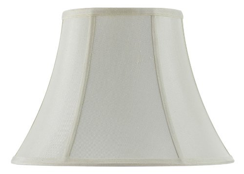 Cal Lighting SH-8104/18-EG Vertical Piped Basic Bell Shade with 18-Inch Bottom, Egg Shell by Cal