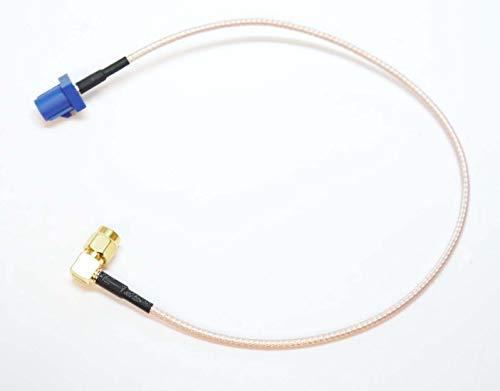 Autodily Fakra C Stecker auf 90 Grad SMA Stecker RG316 Kabel GPS Antennenadapter rechtwinklig - Gender Changer-modell