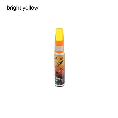 Bolígrafo de pintura para reparar arañazos en el coche, de Picturer7, 11 colores, para todo tipo de coche, bright yellow