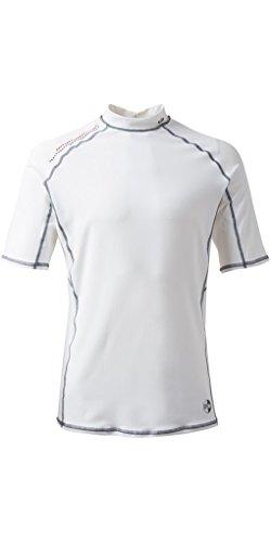 Gill Pro Short Sleeve Schnell Dry Leicht Rash Vest Top Weiß - Easy Stretch UV Sonnenschutz und SPF - Eigenschaften -