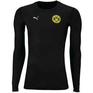 PUMA Herren T-Shirt BVB Long Sleeve Bodywear Tee