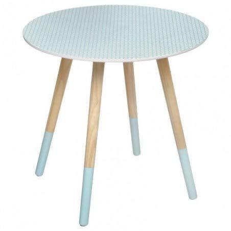 Table basse en bois Bleu clair