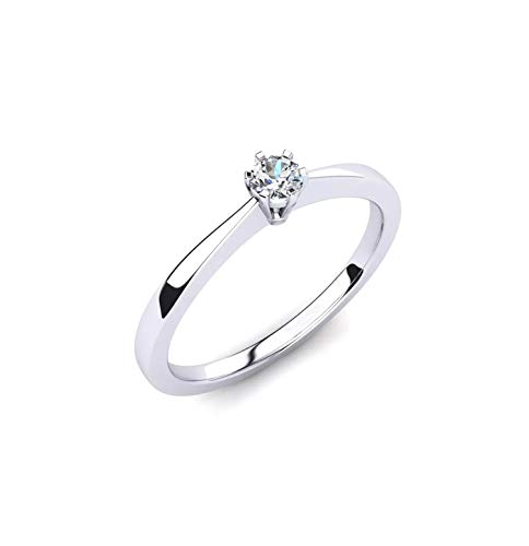 Diamantring - Verlobungsring - Antragsring - Diamantschmuck 0.10 crt - Goldschmuck