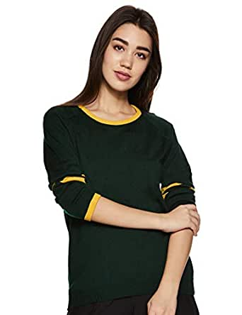 ABOF Women's Synthetic Pullover (BOA19AWWWSW3001038_Olive_S)