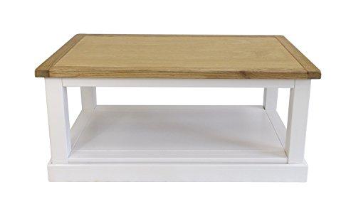Embouts pour Meuble Table Basse carrée avec Jupe, Bois, Blanc