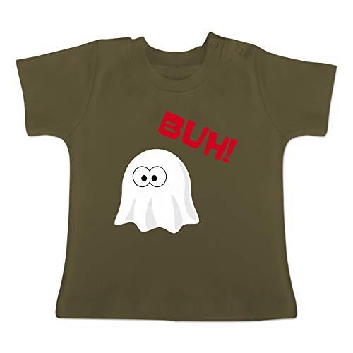 ner Geist Buh süß - 18-24 Monate - Olivgrün - BZ02 - Baby T-Shirt Kurzarm ()