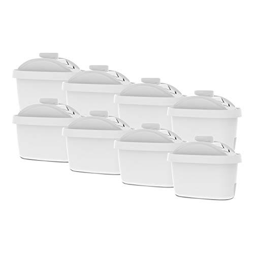 AquaCrest AQK-07 Kompatibler Wasserkannenfilterersatz für Brita Maxtra, Mavea, Laica Bi-Flux, Dafi Unimax, Aquaphor Maxfor, PearlCo Unimax, Aluna Cool, Lauson AWF102 (8) -