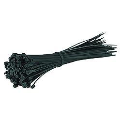 Gocableties 100 Kabelbinder, Schwarz, 200 x 4,8 mm, beste Qualität, starke Nylon- Kabelbinder