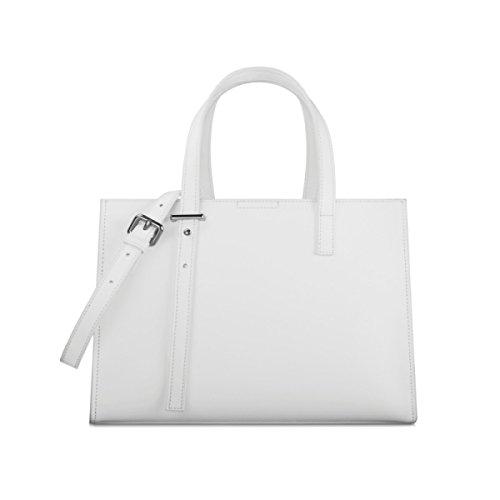 Bag Bianco Bag Commuter Lavoro Da Ladies Borse Medium Simple Retrò Briefcase Casual Ladies Shopper Shoulder Leather wq6TTA