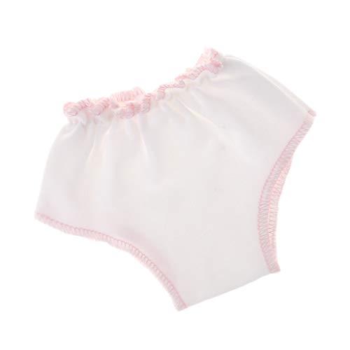 Unterwäsche Unterhosen Slip aus Tuch Für 43 cm Babypuppen - Weiß + Rosa, B ()