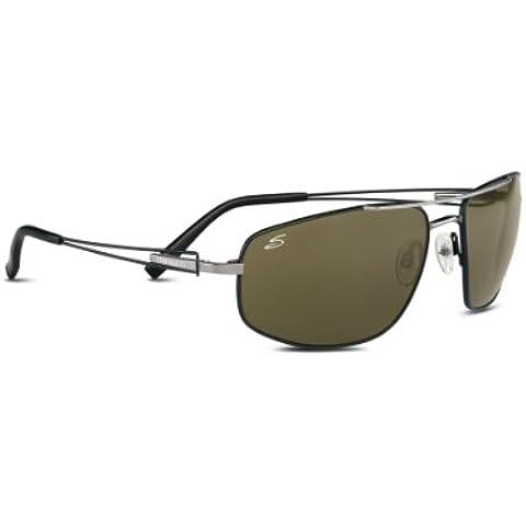 Serengeti Eyewear, Occhiali da sole Augusto, Grigio (Shiny Gun W/Black Tennery), M/L