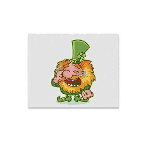 Frauen Gnome Kostüm - WDDHOME Wandkunst Malerei Lachen Redhaired GNOME Grün Kostüm Lustige Drucke Auf Leinwand Das Bild Landschaft Bilder Öl Für Zuhause Moderne Dekoration Druck Dekor Für Wohnzimmer