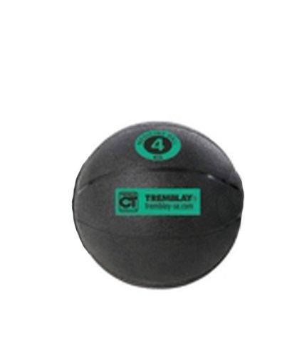 Medecine ball 4 Kg avec diamètre de 23,50 cm de couleur noir avec repère vert -Visiodirect -