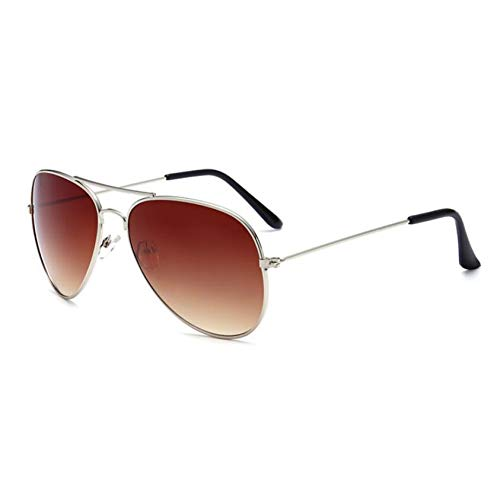 GJYANJING Sonnenbrille ModeSonnenbrillen Männer Vintage Pilot Sonnenbrillen Männer Frauen Metallrahmen Sonnenbrille Aviator Spiegel Retro Eyewear