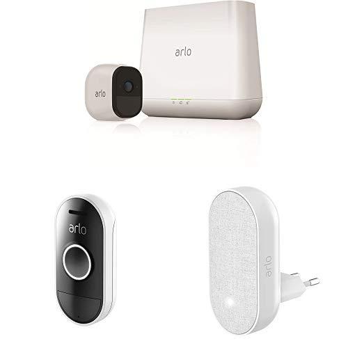 Arlo Pro Smart Home HD-Überwachungskamerasystem mit Cloud Speicher, 1er Kameraset & Smart Doorbell und Chime inklusive -