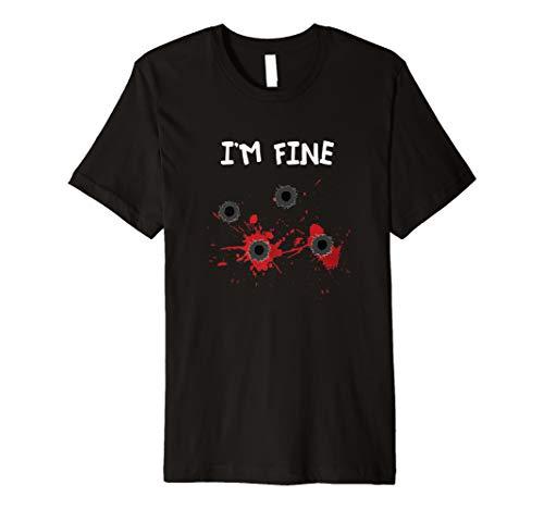 Schusswunde Blut Humor T Shirt | Halloween Grusel - Kostüm Und Schusswunde