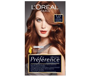 loral coloration rcital prfrence 543 kenya chatain clair cuivr dor - Coloration Chatain Dor
