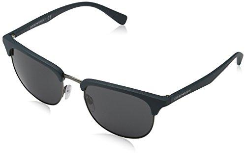 Emporio Armani Unisex EA4072 Sonnenbrille, Grün (Matte Green 550087), Medium (Herstellergröße: 52)