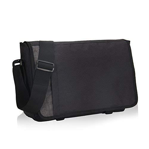 Schwarze Messenger Bag (Veevan Casual Schultertasche Umhängetaschen Messenger Bag 15-Zoll Schwarz)