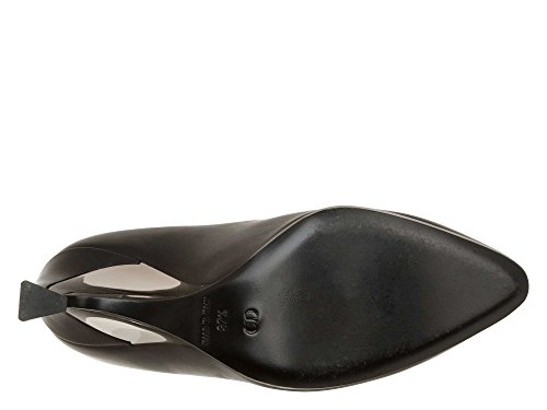 Christian Dior Femmes Bottes montantes cuir véritable Noir