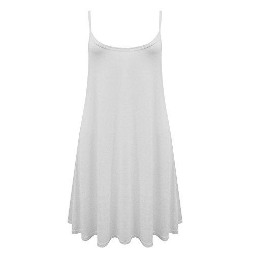 Fashionchic Damen Kleid Kleid Weiß