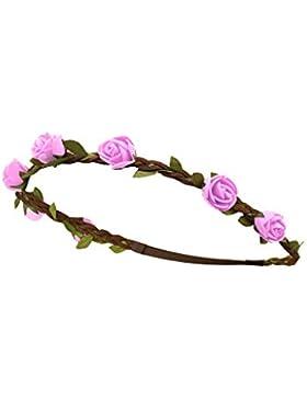 Trachten - Rosen Haarband gefloc