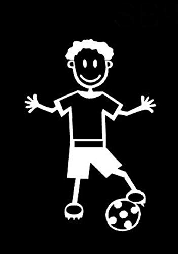 My Stick Figure Family - Mis Pegue la figura familia de coches pegatina de vinilo ventana pequeño niño con el fútbol, football SB8