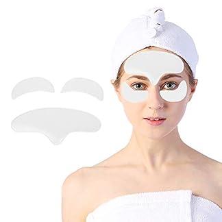 Parches de Arrugas de Silicona para Facial,Cara Frente + Ojos Pads Antiarrugas Lines Collagen Frown Eliminación Reutilizable Anti-envejecimiento para la elasticidad de la piel rejuvenecida