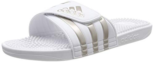 adidas Adissage, Unisex-Erwachsene Dusch- & Badeschuhe, Weiß (Footwear White/Platin Metallic/Footwear White 0), 42 EU (8 UK)