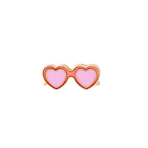 (Adisaer Damen Emaille Pins Brosche Sonnenbrille Broschen Rosa Orange Mädchen 1 Stück Retro)